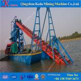 金の採鉱設備のチェーン・バケットの川の砂の浚渫船