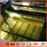 Ideabond konkurrenzfähiger Preis-Goldsilber-Spiegel-zusammengesetztes Aluminiumpanel
