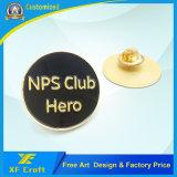 Pino de lapela de estrela chapeado de metal personalizado com fecho de borboleta (XF-BG012)
