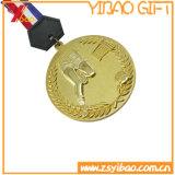 Custom старинной Gold Sport Зин сплава мягкой эмали медаль