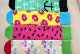 Houndstooth färbte strickende Kleid-Socke