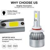Tutti in un indicatore luminoso di nebbia dell'automobile delle lampadine del faro dell'automobile H7 LED dei fari H4 3800lm 36W di E-MARK LED C6 H4