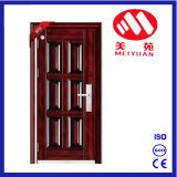 Puerta exterior de la seguridad de acero del diseño del hogar del diseño de los 6 paneles