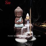 Pequeña decoración del hogar de la cerámica de la hornilla de incienso de la expulsión de Buddha