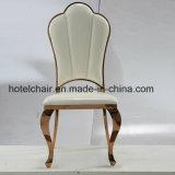 Классическая нержавеющая сталь золота Rose обедая стулы металла стулов