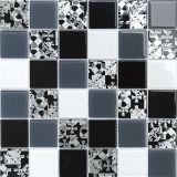 Natural Verde, Marrón, Mosaico de vidrio blanco