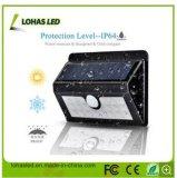Nuovo indicatore luminoso solare impermeabile senza fili alimentato solare del sensore di movimento di stile LED con 4W 400lm 120 gradi