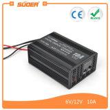 Carregador de bateria reverso da proteção da indicação digital 10A 12V de Suoer (SON-10A)