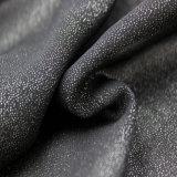 Ткань 100% способа типа полиэфира серебряная отжатая светлая новая для одежды женщин