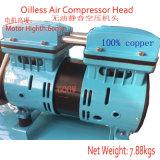 550W pequeño y tranquilo silencioso Oilless compresor de aire Cabeza