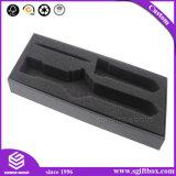 Черная коробка упаковки подарка ювелирных изделий бархата для вахты или электронного продукта