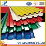 Feuille en acier galvanisée de toiture enduite par couleur de PPGI