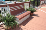 Étage en plastique en bois en stratifié et bon marché/résistance de composés au plancher solide d'humidité et de termites WPC