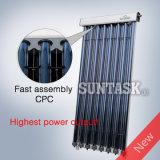 Collecteur solaire de tube à vide à tuyau de chaleur 2017 avec réflecteur CPC