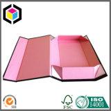 Поднятая вычурой коробка красного подарка картона логоса фольги бумажная