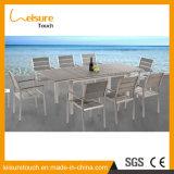 Nouveau design moderne Table à manger ensemble pour patio extérieur terrasse mobilier de jardin en aluminium anodisé