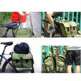 45L Water-Resistant велосипед заднего сиденья Сумка двойной Pannier мешок армии зеленый