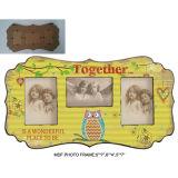 Bâti drôle antique en bois de bureau de photo