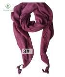 Écharpe carrée chaude de Madame Long Classic Polyester Plain de mode de la vente 2017
