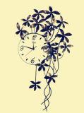 Часы стены металла украшения горячего сбывания красивейшие для вас домашних