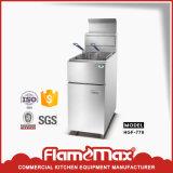 Gaz commercial de vente de réservoir chaud de double/friteuse électrique (HGF-780)