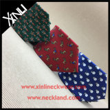 100% de seda personalizado gravado para homens moda Natal gravata