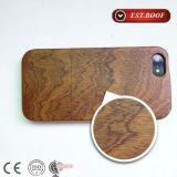 Caja de cuero de madera natural ultrafina del teléfono móvil de la PU para el iPhone