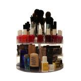 L'acrylique tournant d'organisateur de chariot de Glam pour des produits de beauté composent la mémoire d'étalage de cadre
