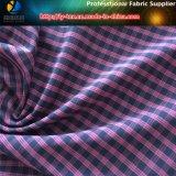 Tela de Shirting da verificação do poliéster Y/D, tela de Polyester+Spandex (YD1200)