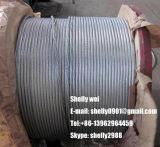 """1/4 """", 9/32 """", 3/8 """", 7/16 """", 1/2 """", 9/16 """", 5/8 """" ha galvanizzato il filo del filo di acciaio per cavo/cavo di ancoraggio/il conduttore collegare/Messenger/ACSR di soggiorno"""