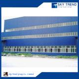 Edificio de la planta del taller de la estructura de acero de la sección ligera