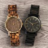Vigilância de madeira das mulheres Senhoras Swiss Circulação Relógios de madeira natural artesanais assistir