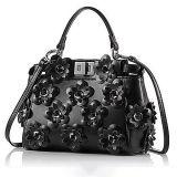Мешки повелительницы плеча новой сумки неподдельной кожи типа 100% стильные с цветастым цветком Emg5049