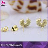 최신 판매 도매 형식 18k 금에 의하여 도금되는 보석 귀걸이