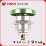 pulsador de la seta del diámetro de 19m m con el LED blanco