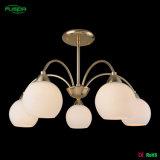 Светильник канделябра потолочной лампы спальни стеклянный