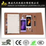 Caderno com Power Bank Brown Print Paper Popular