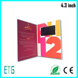 Карточка видео- брошюры печатание конструкции 4.3 дюймов бумажная