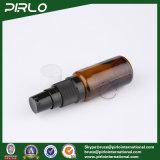 15mlこはく色の管の形の黒いローションのスプレーヤーが付いているガラススプレーのびん