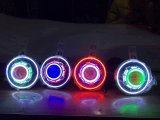 7 polegadas J Eep LED / HID faróis estrelados com diabo Demon Eye e LED Angel Halo