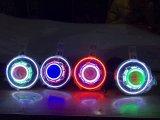 7 pulgadas LED EEP J/HID Faros estrellado con el diablo el ojo del demonio y el LED Angel Halo