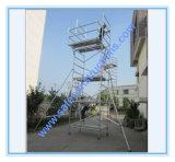 Repairmentのための安全なセリウムの公認アルミニウム足場移動式タワー