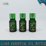 10ml de donkergroene Hete het stempelen Berijpte Fles van het Glas voor Essentiële Olie