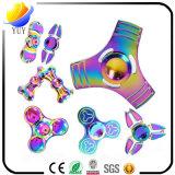 2017 Sell quente e giroscópio plástico creativo da descompressão do diodo emissor de luz do metal e do ABS do girador do giroscópio e da mão da ponta do dedo e do girador da inquietação para brinquedos relativos à promoção