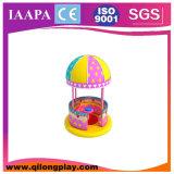 Nouveaux produits tournant la cour de jeu molle électrique animale de dessin animé à vendre (QL--074)