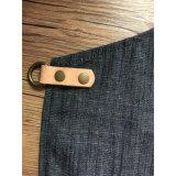 Рисбермы парикмахера джинсовой ткани фабрики профессиональные черные полнометражные с кожаный карманн инструмента