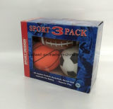 Mini bolas de 5 pulgadas tres fijadas de baloncesto del rugbi del fútbol