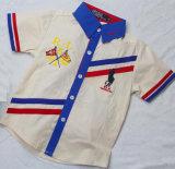 高品質のスクエア17115綿によって編まれるストリップの男の子の方法ワイシャツ