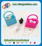 Het grappige Mini Plastic Stuk speelgoed van het Puppy met Kleurrijke Zakken