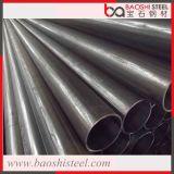 Tubulação redonda soldada ERW do preto do aço suave para o material de construção